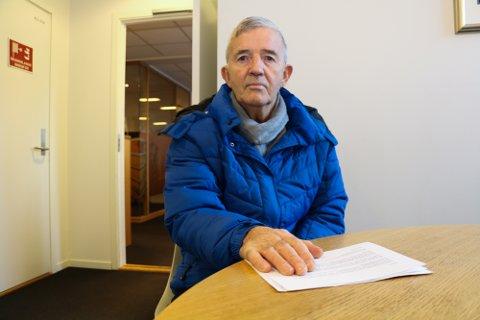 FORTVILET: Harry Hanssen mener skatteetatens innkrevingspraksis er urimelig. Pensjonisten har fått noen uker på seg, til å betale restskatt som båd ehan og Skattetaten er enig om er feil.