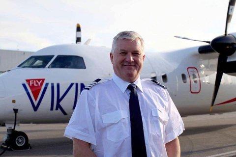 FLY: Giæver foran Fly Vikings Dash 8-fly.