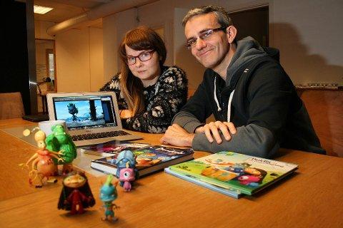 PRODUSENT: Merete Korsberg og Endre Lund Eriksen i animasjon- og utviklingsselskapet Fabelfjord er henholdsvis produsent og manusforfatter.