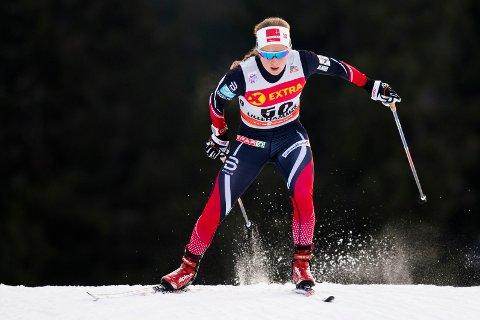 STORFORNØYD: Anna Svendsen er fornøyd med egen prestasjon denne helgen.