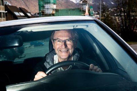 FRIVILLIG BAK RATTET: Søndag stiller ordfører Jarle Aarbakke som frivillig sjåfør i et helt spesielt dugnadsprosjekt i Tromsø. Foto: Torgrim Rath Olsen