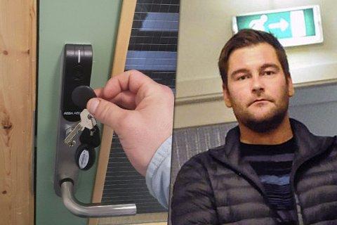 OPPGITT: Mario Hansen har møtt mange hindringer siden han flyttet inn på «Internatet» i Hammerfest. Nå er han lei. Fotomontasje. Foto: Privat/Kristian Østvik