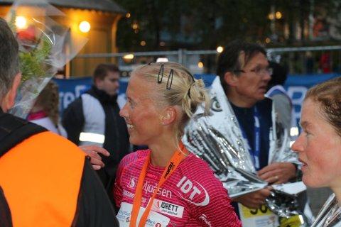FORNØYD: Marte Katrine Myhre.