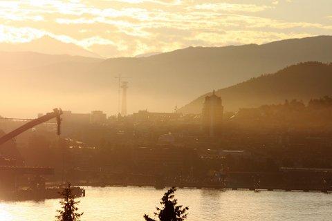 Svevestøvet la seg som et teppe over Narvik lørdag morgen.
