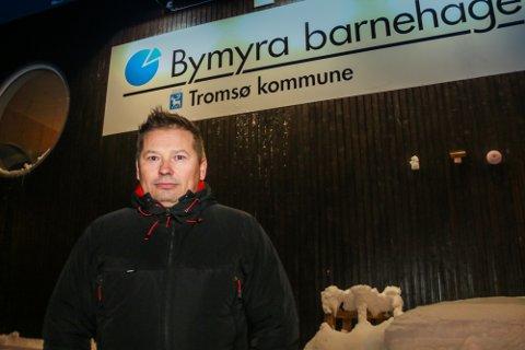 BETENKT: Hovedtillitsvalgt og nestleder i utdanningsforbundet Tromsø, Rune Bakkejord, er betenkt over tromsø kommunes finansiering av barnehagesektoren.