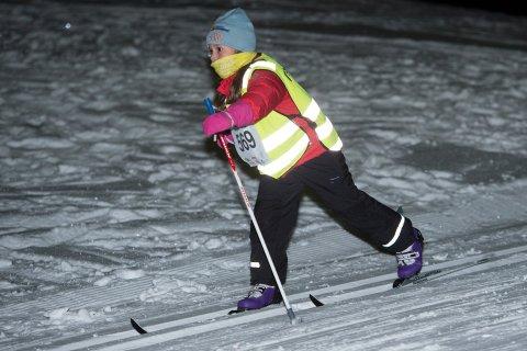 Kaja Bogetvedt i aksjon under forrige onsdagsrenn på Kvaløya. Denne onsdagen blir det ikke noe renn i Tromsdalen.