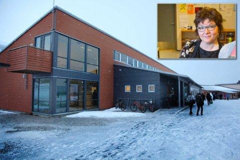 NYE LÆRERE: Storelva skole er blant de mange Tromsø-skolene som nå trenger flere lærere før skolestart. Rektor Grete Ollila (innfelt) synes det er en spennende fase å finne de rette.