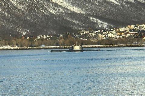 Administrativ stans, sier oberstløytnant Ivar Moen om hvorfor Forsvarets ubåt ble observert i Tromsøysundet lørdag.