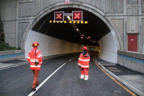 STENGT: Tunnelforbindelsen mellom Breivika og Tomasjord holder nattestengt på grunn av vedlikeholdsarbeid.