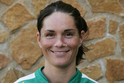 Katrine Søndergaard Pedersen fra tiden som Fløya-spiller. Nå har dansken ledet hjemlandet sitt til EM-finale mot Nederland, som assistenttrener for landslaget.