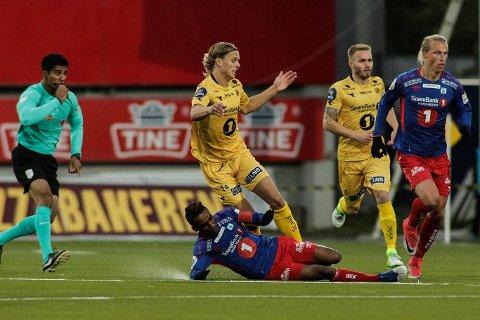KJEMPET HARDT: TUIL-kaptein Mohammed Ahamed og TUIL la ned en god innsats mot Bodø/Glimt - uten at det holdt til poeng.
