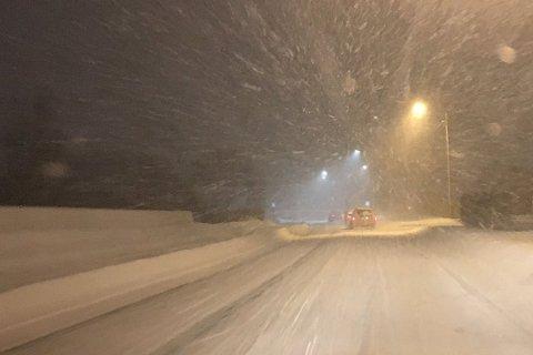 MER SNØ: Bygevær vil prege Troms også torsdag.