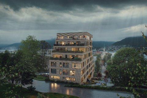 GOD UTSIKT: Slik vil det se ut når boligkomplekset Kongsparken mellom Vestregata og Parkgata ved Kongeparken står ferdig, sannsynligvis om vel to år. Illustrasjon: Magy Media