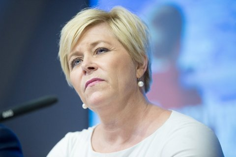 LEGGER FREM: Finansminister Siv Jensen skal mandag legge frem statsbudsjettet for 2019.