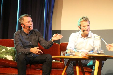 - IKKE SAMARBEID: APs nominerte ordførerkandidat Gunnar Wilhelmsen utelukker samarbeid med Høyres ordførerkandidat Jens Johan Hjort. Her er de to avbildet under Nordlys' ordførerduell for en uke siden.