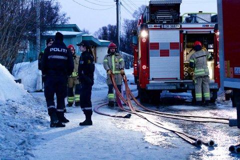 SLOKKET: Søndag morgen begynte det å brenne i Winston Churchills vei. Det er den tredje boligbrannen i Tromsø siden nyttår.