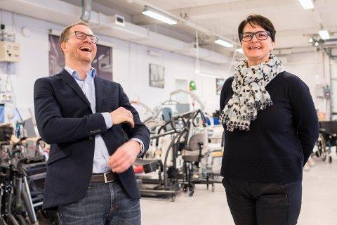 TENKER NYTT: Administrerende direktør Andreas Østenrød og nyansatte Marit Stagrum Ottem (ansvar for blant annet merkevarebygging)