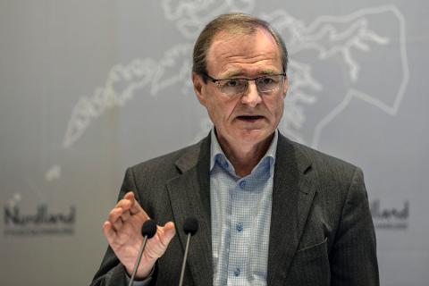 MØTTES 19. JANUAR: Helse Nord-sjef Lars Vorland og UNN-direktør Tor Ingebrigtsen hadde et møte 19. januar der truslene ble diskutert. Ifølge Vorland kom Ingebrigtsen selv frem til at han burde trekke seg.