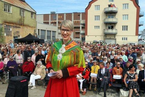 LETTERE FOR TROMSØVÆRINGER: Festspilldirektør Maria Utsi sier at festivalen jobber for å få en bedre båtforbindelse mellom Tromsø og Harstad under festivalen. - På den måten blir det mulig for folk i Tromsø å reise fram og tilbake på én dag. Jeg har god tro på at vi får til en slikl hurtigbåt-avtale, sier hun.