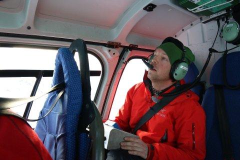 Andreas Persson har i dag vært i lufta på Senja, for å ta ned skred under kontrollerte forhold.