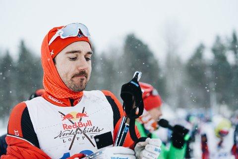 VANT: Andreas Nygaard gikk inn til seier i Nordenskiöldsloppet 2018. Et 220 kilometer langt skirenn, som omtales som verdens tøffeste og lengste.