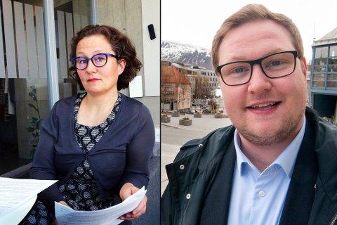 TILBAKE OG FREM: Kristin Røymo (Ap) opplever tilbakegang i en ny TV 2-måling, mens for Erlend Svardal Bøe (H) er det motsatt.