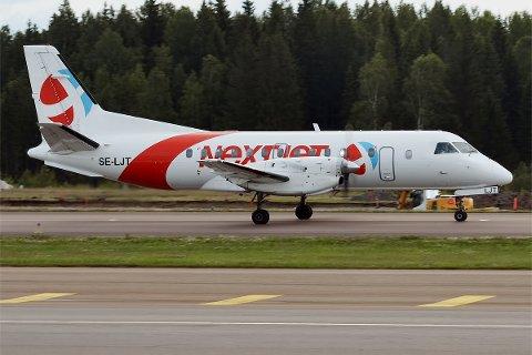 KONKURS: Svenske Nextjet er konkurs. Det rammer blant annet flyruten mellom Tromsø og Oulu.