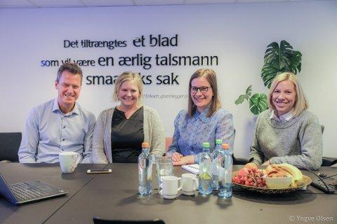 JURYEN: Jens Johan Hjort, Ingvild Jakobsen, Silje Solstad og Anne Edholm deler ut 100.000 fra Nordlys Plussfondet i denne omgangen. Søknadsfristen er mandag 1. oktober.