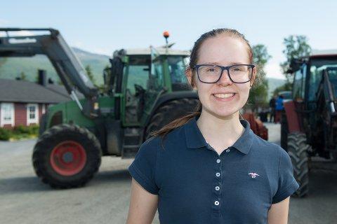 DRØMMEJOBB: Sommerjobb på gård er drømmejobben for Marita Johanne Leivseth.