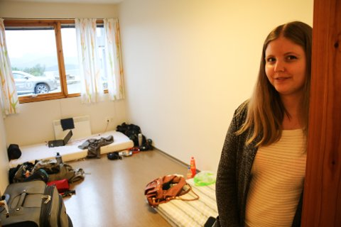 SENT UTE: Hanne Myhren fra Lillehammer var for sent ute til å søke studiebolig, og har tatt inn på Samskipnadens nødovernatting. Myhren skal studere fred- og konfliktstudier på UiT Norges arktiske universitet.
