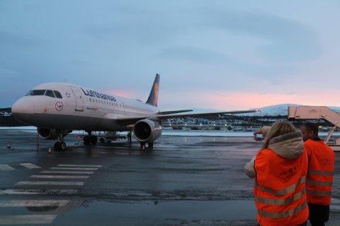 NY DIREKTERUTE: I 2018 begynte Lufthansa å fly direkte til München. I januar starter Sas med ruteflyvning til Brüssel. Mens innenlandstrafikken går ned, øker utenlandstrafikken inn og ut av Langnes.