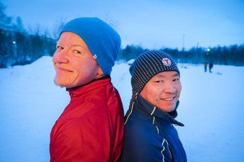 FORANDRET LIVENE: De tok grep i livene sine, og har lyktes fantastisk godt – kameratene Vegard Sørnes (40) (til venstre) og August Hellgren (44). Foto: Yngve Olsen