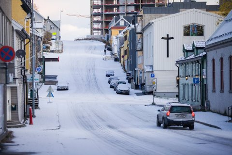 Tromsø lørdag formiddag.