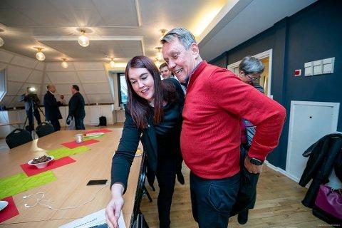 Gunnar Wilhelmsen blir ordfører og Marlene Bråthen varaordfører i Tromsø. Foto: Torgrim Rath Olsen