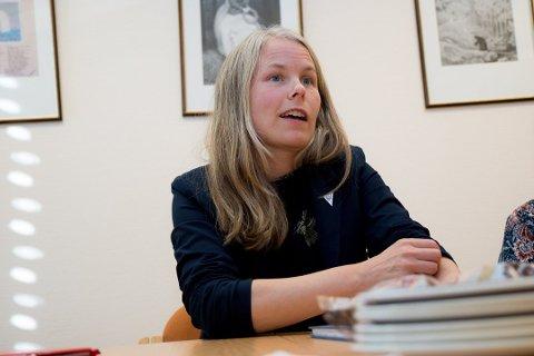 BLE STANSET: Kirsti Bergstø ville ha debatt og vedtak om oppløsning av storfylket, men en tredel av fylkestinget stanset utvidelsen av sakslista.