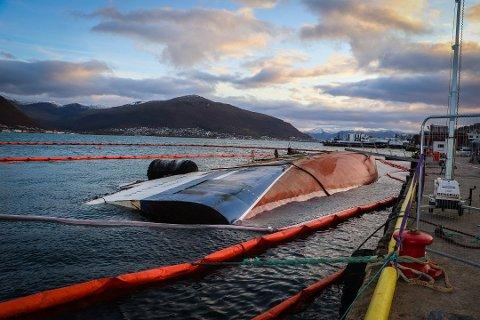 VRAKET: Av tråleren ved kai i Tromsø.