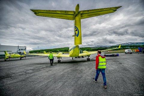 LØSNINGEN? Luftambulansetjenesten HF og Babcock har vært i kontakt med Lufttransport for å se på løsninger på krisen i tjenesten. Her er et av Lufttransports gamle ambulansefly.