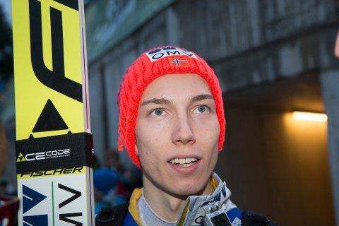 PÅ PLASS: Johann Forfang er på plass i Oberstdorf. Der havnet han på en fjerdeplass i 1. omgang. Foto: Arkiv