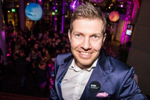 FERDIG: Øyvind Alapnes har hatt siste arbeidsdag som hotellsjef på The Edge.