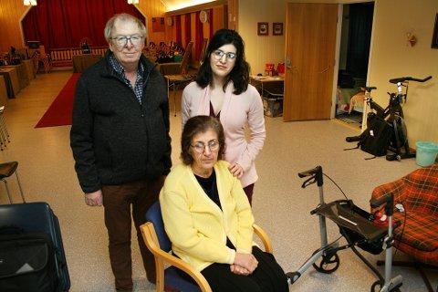 HJELPER: Per Andersen i støttegruppa besøker kirkeasylantene Sefideh Sami og hennes mor Farangis Namazi annenhver dag.
