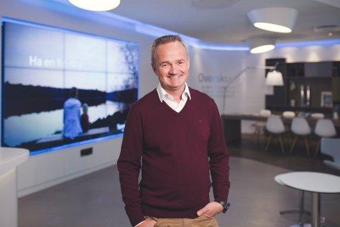 KAN SMILE: Konsernsjef Jan-Frode Janson forlater en skute med stø kurs og god fart.