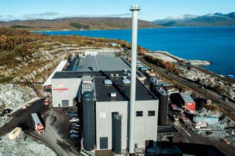 FORBRENNINGSANLEGG: Dette er Kvitebjørn Varmes forbrenningsanlegg på nordenden av Tromsøya. Foto: Kvitebjørn Varme
