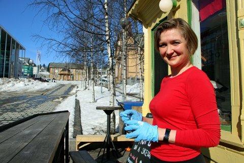 SATSER: Siri Therese Lier drømmer om uteservering på Stortorget. Nå skal kommunen se på saken.
