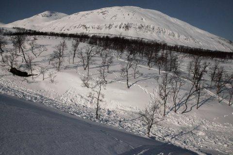 SAVNET: I dette elveleiet ble snøskuteren som Lasse Pettersen (31) kjørte fra Kvandal torsdag 21. mars funnet. Tirsdag ble en død person funnet i det samme området.