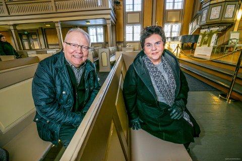 LISTETOPPER: Kai Krogh og Tove Karoline Knutsen topper den liberale lista til Åpen folkekirke i bispedømmet foran høstens kirkevalg.