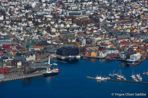 Tromsø har opplevd stor vekst innen både sjøfart, «annen mobil forbrenning» og innen industri, olje og gass de siste årene. Foto: Yngve Olsen