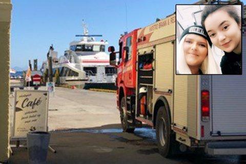 BLE REDD: Passasjerene ble redde etter røykutvikling på hurtigbåten Kistefjell. Innfelt: Benedicte Hansen (tv) og Tara Soleng.