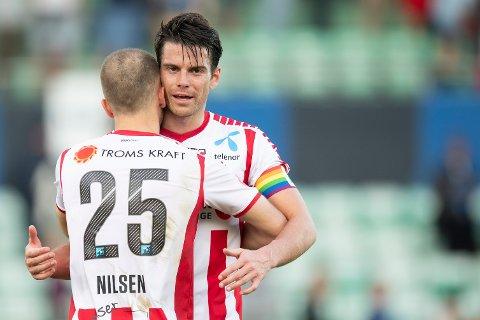 STARTER: Lasse Nilsen (t.v.) og kaptein Simen Wangberg starter i dagens cupkamp mot Kongsvinger.