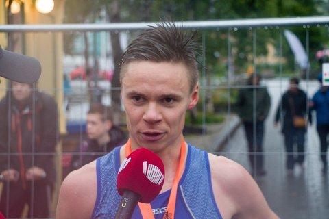 I år som i fjor var Erik Lomås raskest på mila. Foto: Viljar Sæbbe
