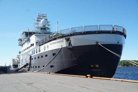 SKADET: Det nye forskningsskipet Kronprins Haakon er blitt skadet under tokt i Polhavet.